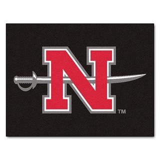 Fanmats Machine-Made Nicholls State University Black Nylon Allstar Rug (2'8 x 3'8)