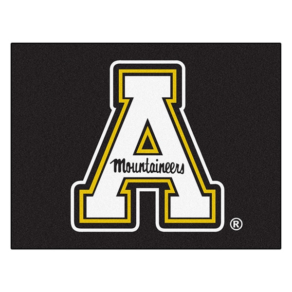 Fanmats Machine-Made Appalachian State Black Nylon Allstar Rug (2'8 x 3'8)