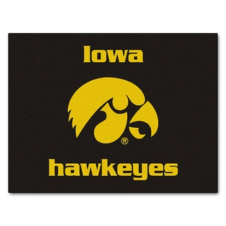 Fanmats Machine-Made University of Iowa Black Nylon Allstar Rug (2'8 x 3'8)