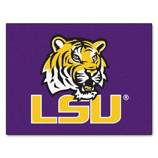 Fanmats Machine-Made Louisiana State University Purple Nylon Allstar Rug (2'8 x 3'8)