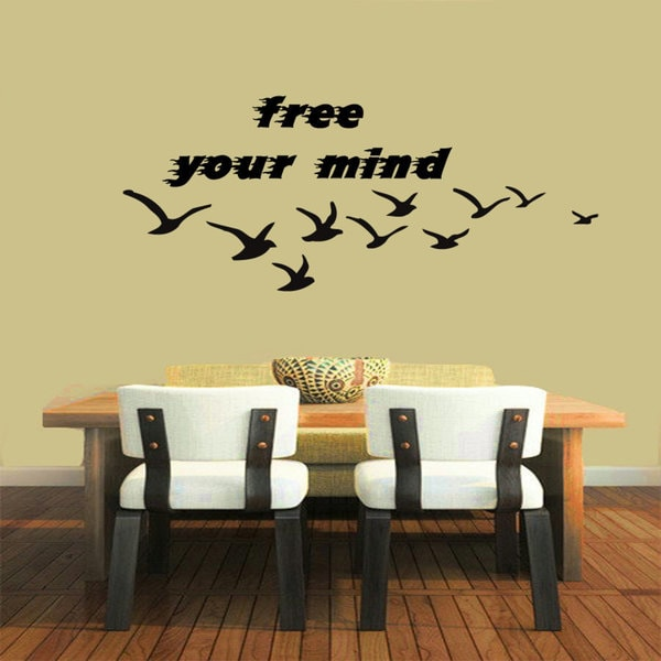 Free Your Mind Quote Vinyl Sticker Wall Art