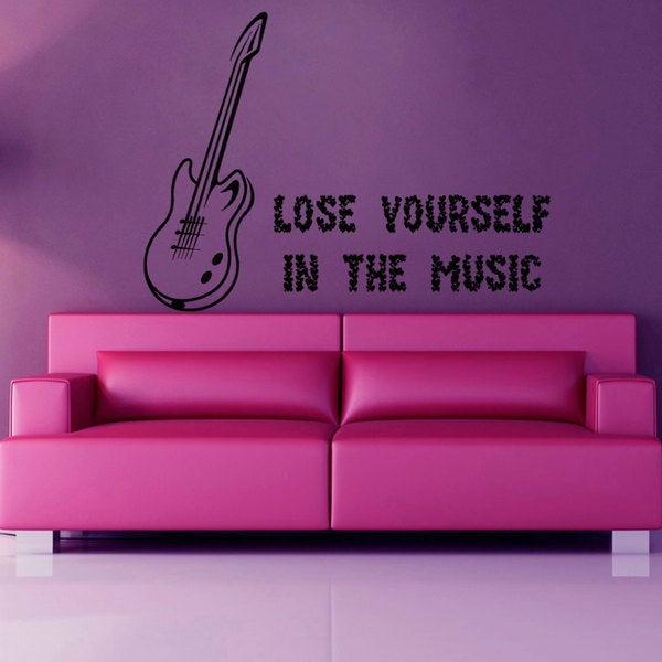 Lose Yourself In The Music Quote Vinyl Sticker Wall Art