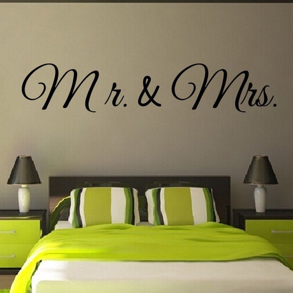 Mr and Mrs Love family Quote Vinyl Sticker Wall Art