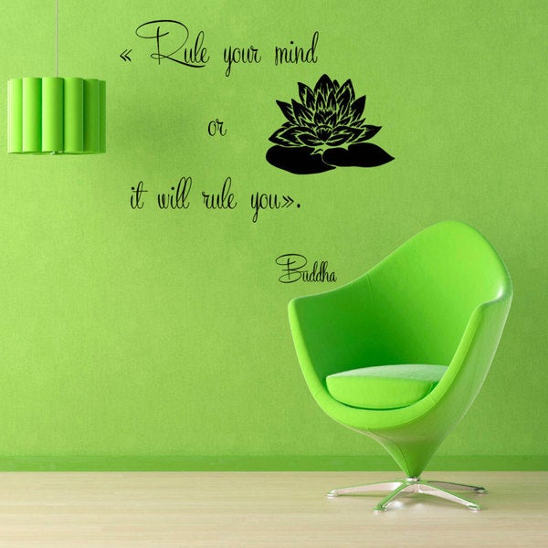 Buddah 'Rule Your Mind' Quote Vinyl Sticker Wall Art