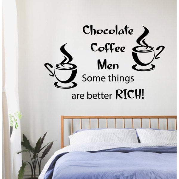 Some Things Are Better Rich' Sticker Vinyl Wall Art