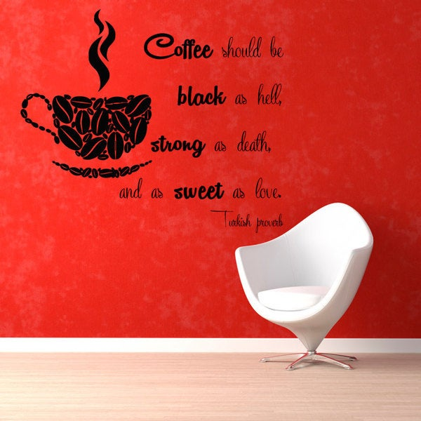 "Coffee Should Be"" Sticker Vinyl Wall Art"