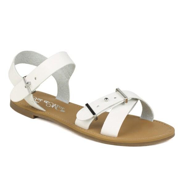 TOI ET MOI Women's Sherbet-01 Flat Criss-cross Sandal