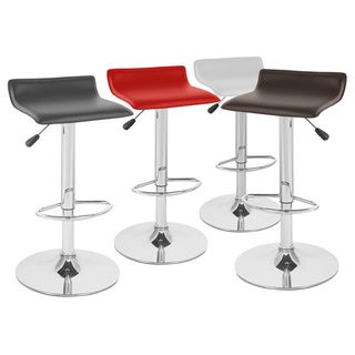 Sigma ContemporaryLeather Adjustable Barstools (Set of 2)