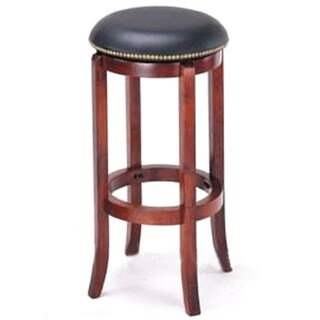 Manchester Contemporary Wood/ Faux Leather Barstool