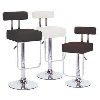 Blok Contemporary Adjustable Barstool (Set of 2)