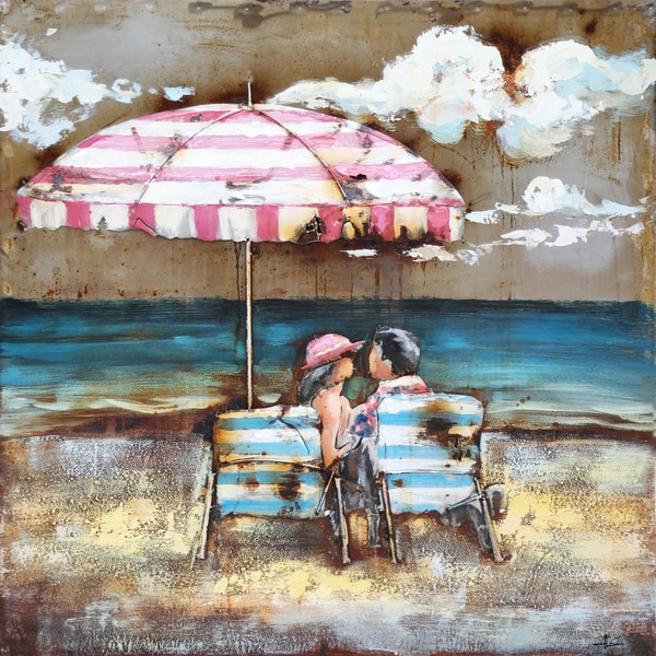 Couple on the Beach Original Hand painted Wall Art