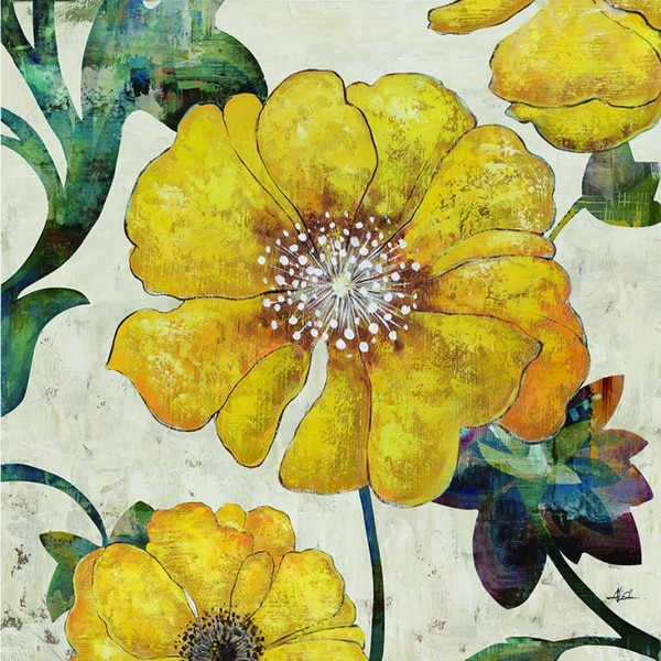 Yellow Bloom Original Hand painted Wall Art