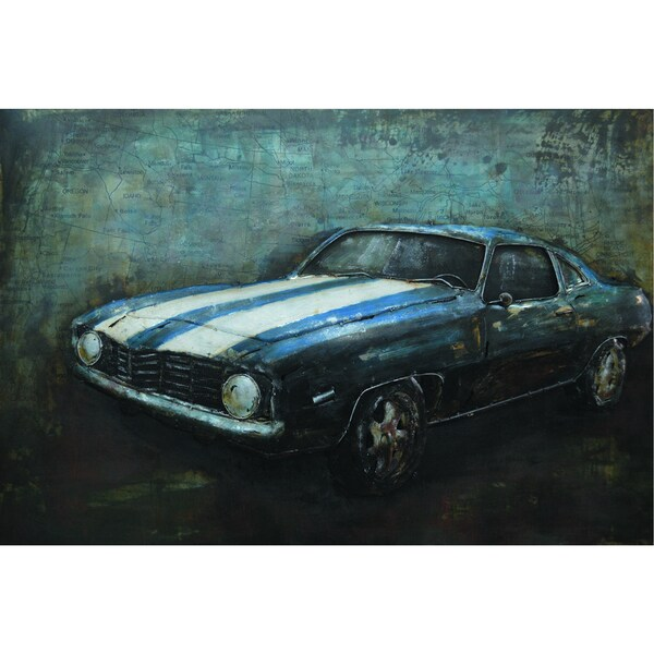 Retro Roadster Original Hand painted Wall Art