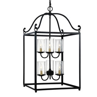 Feiss Declaration 6-light Antique Forged Iron Chandelier