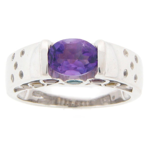 Meredith Leigh Sterling Silver Multi-gemstone Ring