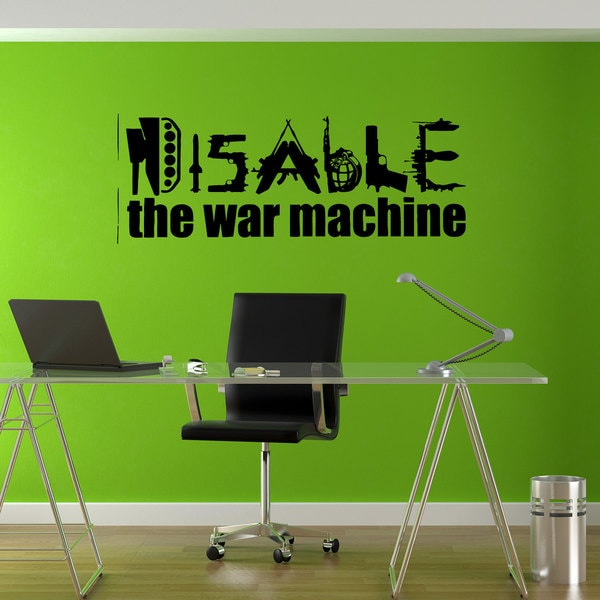 Disable War Machine Love Joy Hippie Sticker Vinyl Wall Art