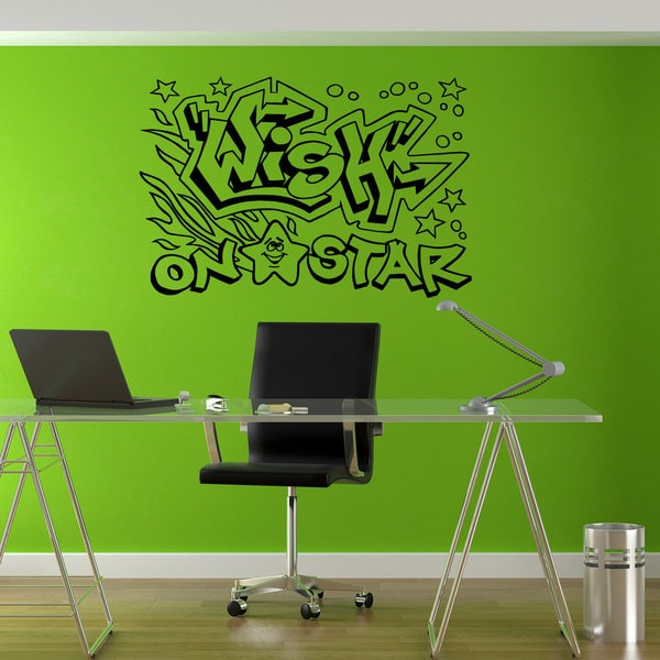 Wish on the Star Graffiti Hippie Sticker Vinyl Wall Art