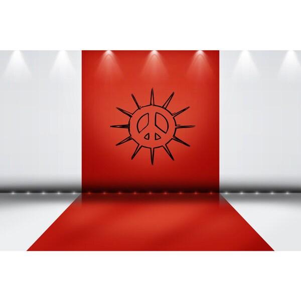 Sun Peace Sign Sticker Vinyl Wall Art