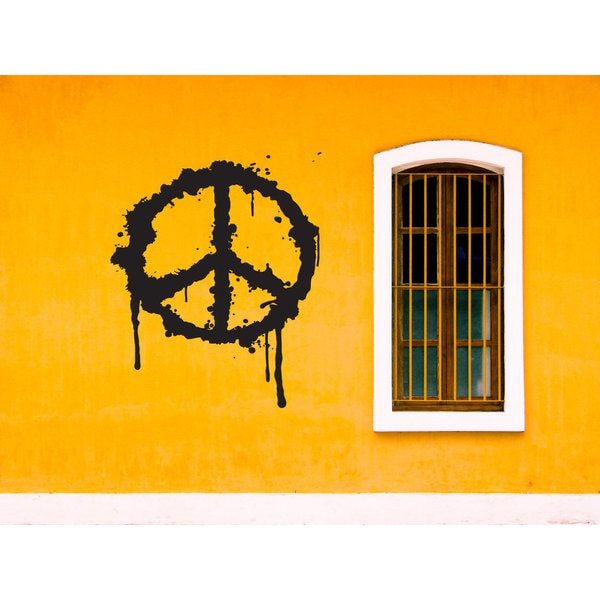 Peace Sign graffiti Paint Job Sticker Vinyl Wall Art