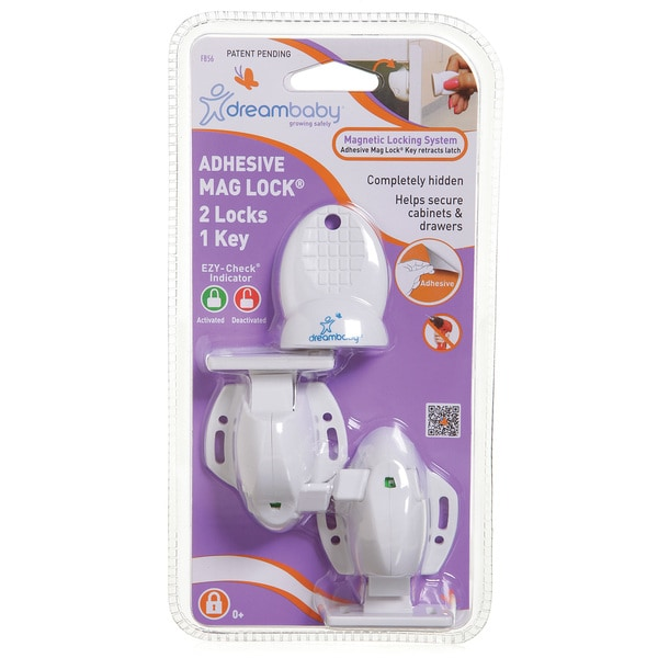 Dreambaby Adhesvice Magnetic Lock- 2 Locks 1 Key