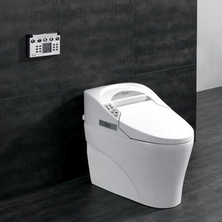 OVE Decors Elongated Smart Toilet with Adjustable Water, Seat and Dryer Settings and Remote Control