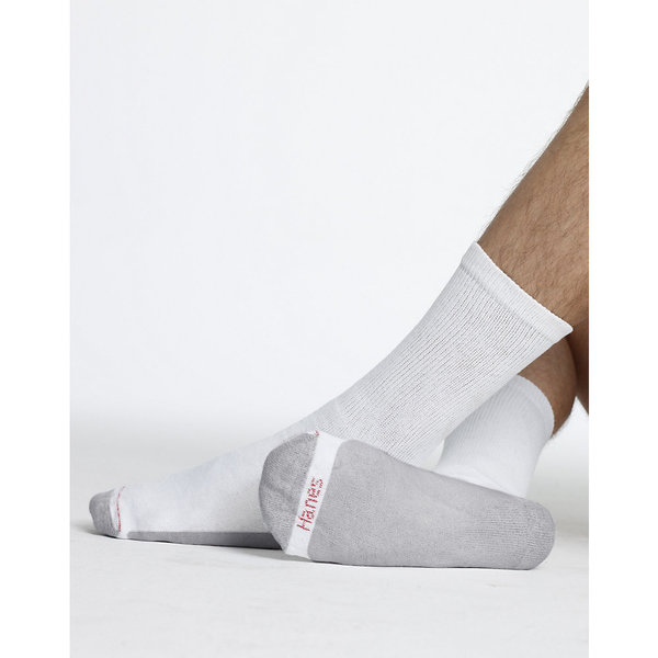 Hanes Men's Cushion Crew Socks 6-Pack