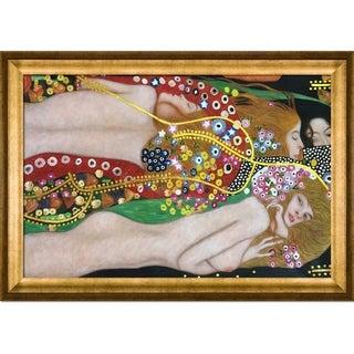 Gustav Klimt Water Serpents II (detail - Luxury Line) Hand Painted Framed Canvas Art