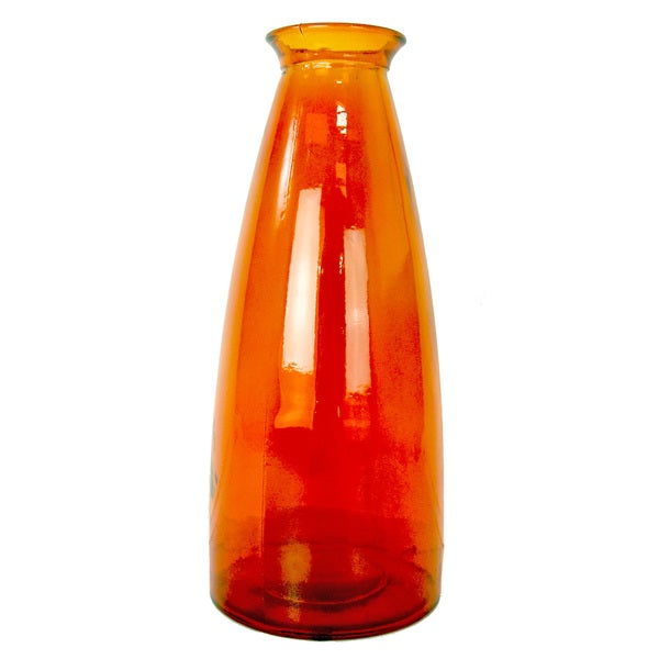 Burnt Orange Glass Vase
