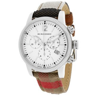 Burberry Women's BU7820 Utilitarian Round House Check Strap Watch