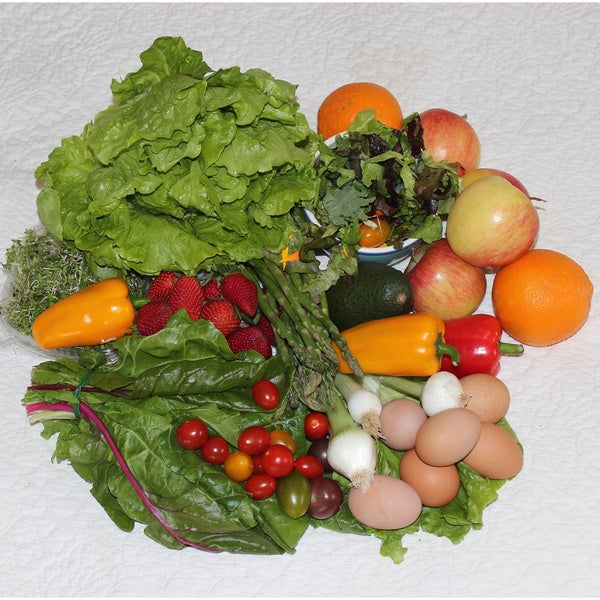 Seabreeze Organic Farm 'The Good Life' Produce Bag with Eggs (Local Delivery)