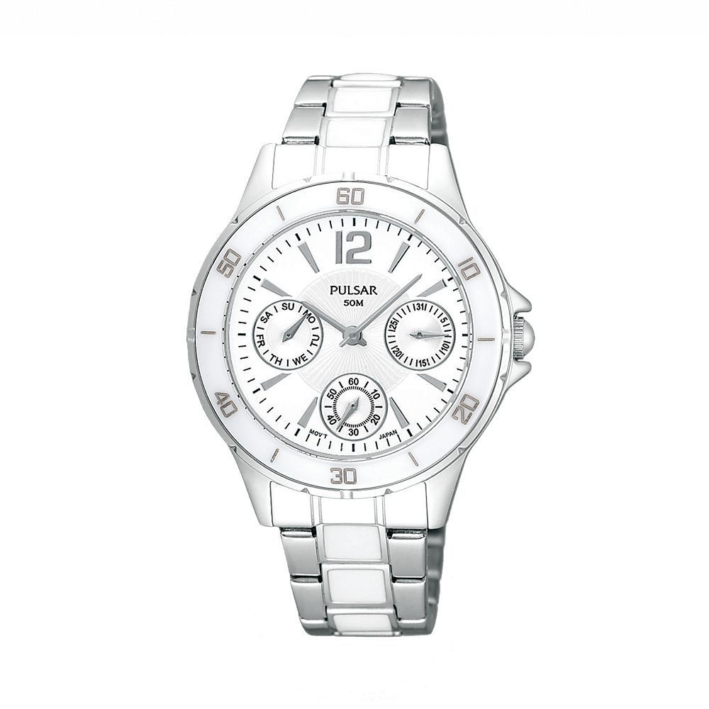 Pulsar by Seiko Women's PP6021 Stainless Steel Chronograph Dial Watch
