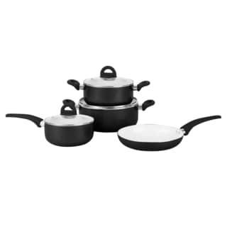 PL 7pc Alum Cookwr Set Blk