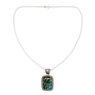 Handcrafted Sterling Silver 'Delhi Blue' Turquoise Necklace (India)