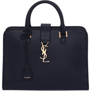 Saint Laurent Small Cabas Monogram Leather Satchel