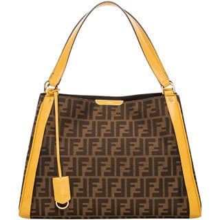 Fendi Zucca Double-Handle Hobo