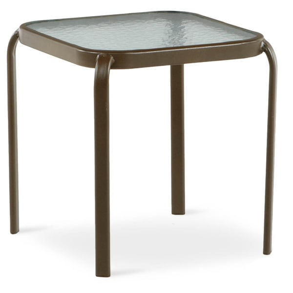 art van manor 16 inch square side table