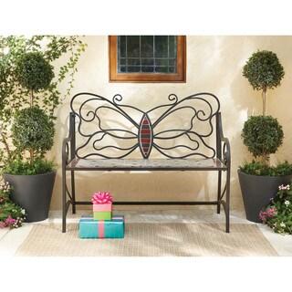 Art Van Butterfly Mosaic Garden Bench