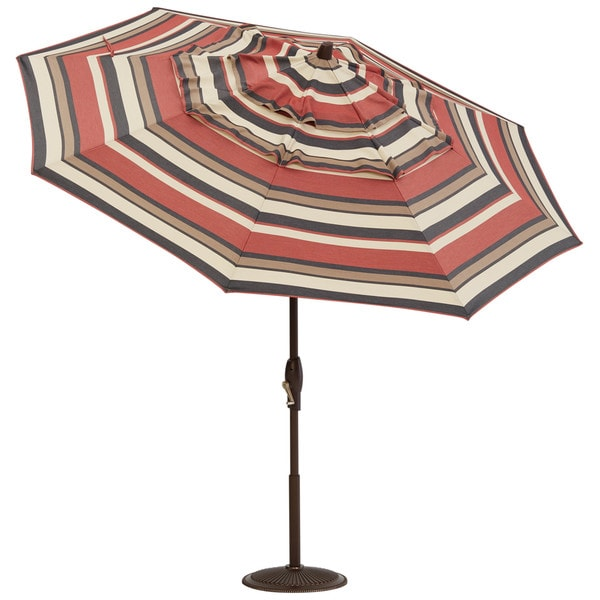 Art Van 9 Fiit Sedona Stripe Auto Tilt Umbrella