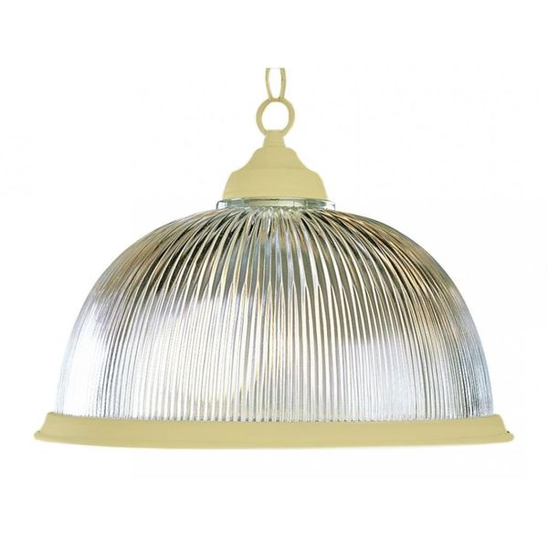 Cambridge Polished Brass Finish Pendant With A Frosted Shade
