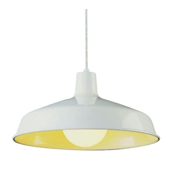 Cambridge White Finished Pendant