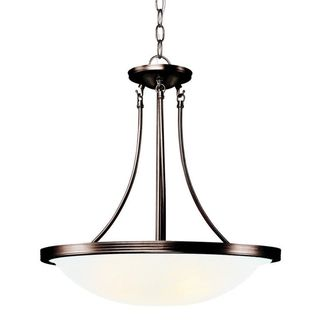 Cambridge Rubbed Oil Bronze Finish Pendant With An Opal Shade