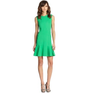 Diane Von Furstenberg Hot Green Jaelyn Sleeveless Knit Day Dress