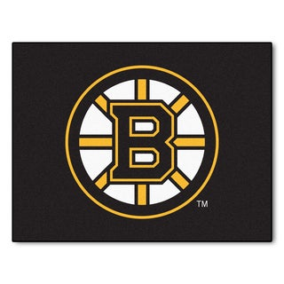 Fanmats Machine-Made Boston Bruins Black Nylon Allstar Rug (2'8 x 3'8)