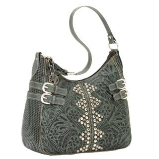 American West Cherokee Leather Hobo Bag