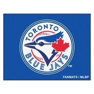 Fanmats Machine-Made Toronto Blue Jays Blue Nylon Allstar Rug (2'8 x 3'8)