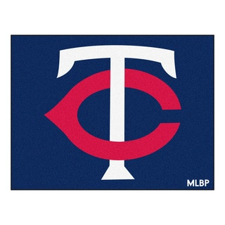 Fanmats Machine-Made Minnesota Twins Blue Nylon Allstar Rug (2'8 x 3'8)