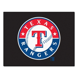 Fanmats Machine-Made Texas Rangers Blue Nylon Allstar Rug (2'8 x 3'8)