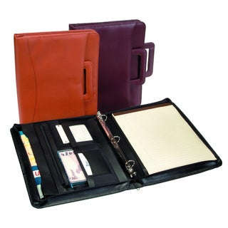Royce Leather Zip Around Binder Genuine Leather Padfolio