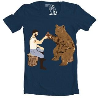 Sharp Shirter Men's Having a Bear Short Sleeve Cotton T-shirt