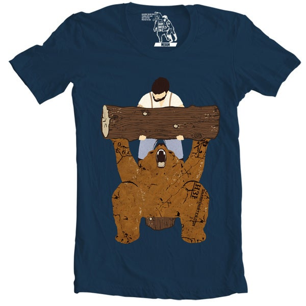 Bear Spotting Men's Navy Bear Spotting Short Sleeve T-shirt